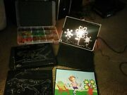 Lite-brite Toy Pegs And Sheets Included - Tested Lots 1967 Vintage Hasboro