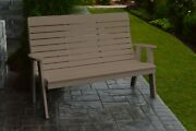 Outdoor Poly 5 Foot -winston Garden Bench - Multiple Colors- Recycled Plastic