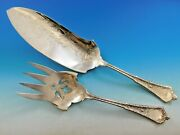 Persian By And Co Sterling Silver Fish Serving Set Engraved 12 3/8