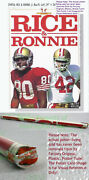 Nitf ☆ Vintage Nike Poster ☆ Rice And Ronnie ☆ 49ers Old Stock W/label Jerry Lott