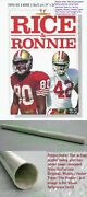 Nitf ☆ Vintage Nike Football Poster Rice And Ronnie 49ers Jerry Lott Rice-a-roni