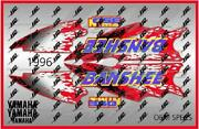 1996 Yamaha Banshee Full Graphics Kit Decals Stickers Thick And High Gloss