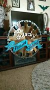 Large Laundry Room Sign Farmhouse Style Home Décor Metal Wall Art Sign, Usa Made