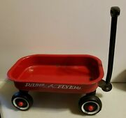 Vintage Radio Flyer Red Wagon Metal Miniature 12.5 X 7.75 Bed Size