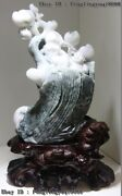 Chinese Dushan Jade Peach Tree The God Of Longevity With Boy Fengshui Statue