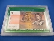 Australia The Last One Dollar Note + The First Dollar Coin + 1 Postage Stamp