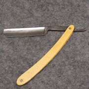 Silver Steel Eagle Brand 6-1/4 Straight Razor No 20 Ivory Colored Celluloid