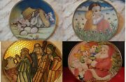 Tiziano Veneto Flair Plates Etched Mother's Day, Easter, Sheppherds, Santa Pick