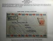 1937 Port Louis Mauritius First Flight Flying Boat Cover Ffc To Dundee Scotland