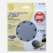 Shopsmith 5 In. Sanding Disc 15 Pc Aluminum Oxide Hook And Loop 220 Grit 12056 New