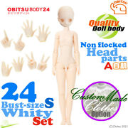 Obitsu 24bd-f02w-s Bust Size White Body A Hands And Non Flocked Head Parts Set New