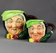 2 X Toby Jugscharles Dickenssairey Gampvintage China Duoset By Royal Doulton