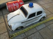 Vintage Tin 60's Taiyo Vw Volkswagen Beetle Battery Operated All Functional