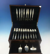 Lark By Reed And Barton Sterling Silver Flatware 8 Set 35 Pcs Mid-century Modern