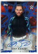 2018 Topps Wwe Auto Jeff Hardy Wrestling Blue Autograph /50 Road To Wrestlemania