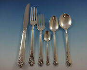 Damask Rose By Oneida Sterling Silver Flatware Set Service 53 Pieces Place Size