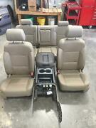 2014-2019 Chevy Silverado Sierra 1500 Tan Leather Front Leather Front/rear Seats
