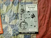 1949-50 Michigan State Spartans Basketball Media Guide Yearbook Program 1950 Ad