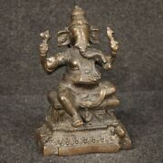 Sculpture Indian Statue Bronze Divinity Furniture Object Antique Style 900