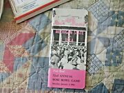 1966 Rose Bowl Media Guide Yearbook Michigan State Spartans Ucla Bruins Program