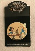 Le Old Disney Auctions Pins Mickey Mouse And Goofy Vintage Railroad Handcart Pin