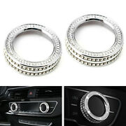 Crystal Bling Ac Climate Control Knob Ring Covers For 17-up Audi A4 S4 A5 S5 Rs5