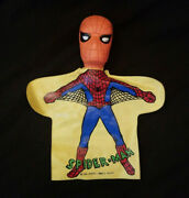 Vintage Rare Spiderman Hand Puppet 1966 Ideal Marvel Comics Group Hard To Find