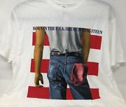 Bruce Springsteen Born In The Usa 84 Concert Tshirt Reproduced In 2012 Nwt