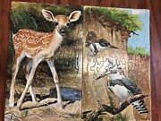 Vtg 1950/60s Springbok Tray Puzzle National Wildlife Reece Deer And Peterson Birds