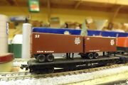 N-scale Custom Painted New Haven Tofc Nh 20' Tofc