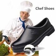 Menand039s Safety Work Shoes Oil And Water Proof Anti-slip Kitchen Chef Cooking Loafers
