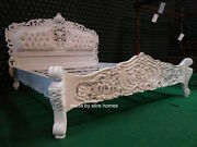 6' Super King Size French Baroque Louis Style ..top Quality Designer Rococo Bed