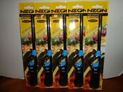 Lot 5 Neon Long Refillable Butane Gas Lighters Bbq Grill Candle Fireplace Stove