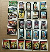 27 Vintage Topps Wacky Packages Sticker Lot 21 1973's And 6 1979's