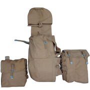 German Wwii Engineer Assault Pack-backpack W/pioneer Pouches-khakhi-repro E575
