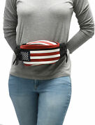 Ccw Concealed Carry 3 Compartment Patriot Leather Fanny Pack For Small Pistols.