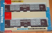 Walthers 932-235313 Gold Line 86' Hi-cube Box Car 8-door 2-pack Milwaukee Road