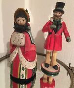 House Of Hatten 12 Victorian Carolers Set/2 On Christmas Day Denise Calla 1991