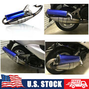 Exhaust System Muffler Pipe Scooter Moped Racing For Yamaha Breeze Jog 50cc
