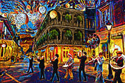 New Orleans Art Print Mardi Gras Canvas Painting Print Colorful Home Decor