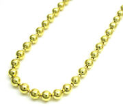 Mens Womens 14k Yellow Gold 3mm Military Plain Dog Tag Chain Necklace 16 - 24