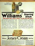 Williams' 1911 Shaving Stick And Powder And Jersey Cream Soap Advertising Ad Matted