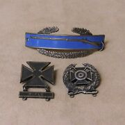 Three Wwii Sterling Combat Infantry Badges