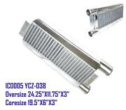 Emusa 2.5 Inlet And Outlet One Side Intercooler 24x11x3 Ic0005 Ycz-038