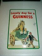 4 Guinness Beer Metal Signs Extra Stout Can Style + Vintage Golf Theme Golfing