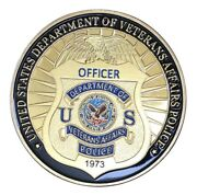 U.s. United States | Department Of Veterans Affairs Police | Gold Plated Coin