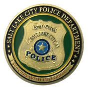 U.s. United States | Salt Lake City Police Department | Gold Plated Coin