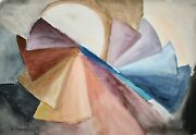 Raymond Trameau - Painting Original - Watercolour - Composition Abstract 9