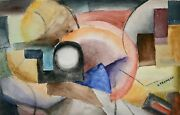 Raymond Trameau - Painting Original - Watercolour - Composition Abstract 2