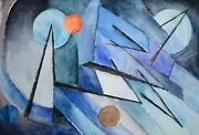 Raymond Trameau - Painting Original - Watercolour - Composition Abstract 3